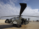 AH-64 Helicopter Sits on the Flight Line at Camp Speicher