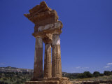 Ruins of Ancient Roman Column Architecture in Sicily  Italy