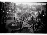 Scott Circle Seen from a Hotel Window  Washington  District of Columbia