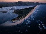 Aerial View of Tillamook Spit  Oceanside  Oregon