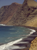 Scenic View of the Mountainous Pacific Coast of Peru  Peru