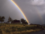 Rainbow after a Storm over a Farmstead in Rural Chile