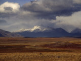 Scenic View of Snow-Capped Mountains  Clouds  and Grasslands