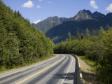 Winding Road Through the Mountains of Vancouver Island  British Columbia  Canada