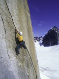 Rock Climbing a Crack in Denali National Park  Alaska