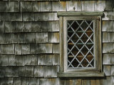 Window and Shingled Side of the Hoxie House  Built in 1665  Sandwich  Cape Cod  Massachusetts