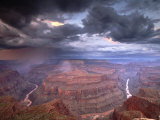 Monsoon Storm in the Grand Canyon  Alarcon Terrace  Conquistador Aisle  Grand Canyon  Arizona