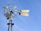 Close View of a Broken Windmill  Saskatchewan  Canada