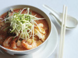Laksa  a Popular Spicy Noodle Soup Which Is a Mix of Chinese and Malay  Singapore