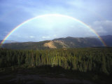 Rainbow over Mountains  Alaska Mountains  Alaska