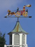 Fire Wagon Weather Vane Atop a Cupola  Brewster  Cape Cod  Massachusetts