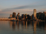 View of the Waterfront and Downtown Vancouver in the Late Afternoon
