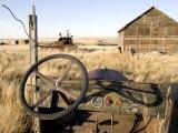 Abandoned Car and Farmstead Near White Bear  Saskatchewan  Canada