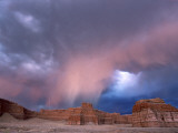 Storm Approaches Tohachi Canyon  Navajo Indian Reservation  Painted Desert  Arizona
