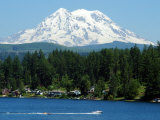 View of Mount Rainier from Clear Lake  Mt Rainier  Washington