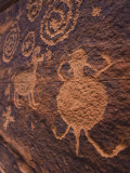 Ancient Anasazi Rock Art on Red Sandstone  Coconino National Forest  Verde Valley  Arizona