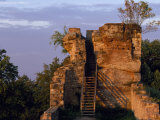 Stairway Leading Up Set of Ruins  Castle Blumenstein  Nature Park Pfaelzer Forest  Wasgau  Germany