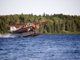 Norseman Float Plane Takes Off  Red Lake  Northern Ontario  Canada