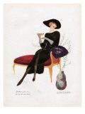 Woman Drinking Tea  Magazine Plate  Spain  1921