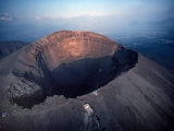 Aerial View over Mount Vesuvius Reveals its Gaping Crater  Naples  Italy