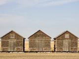 Exterior View of Old Granaries  Saskatchewan  Canada