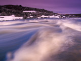 Rushing Waters in a Wild Arctic River  Nunavut  Northwest Territories  Canada