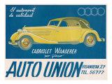 Auto Union Audi, Magazine Advertisement, USA, 1930 Giclée