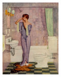 Woman in Bathroom  Magazine Advertisement   UK  1930