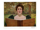 Woman Reading  Magazine Plate  Spain  1902