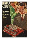 Hispano Olivetti  Magazine Advertisement  Spain  1935
