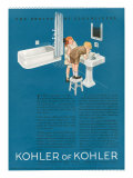 Kohler  Magazine Advertisement  USA  1923