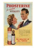 Phosferine  Magazine Advertisement  UK  1950