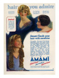 Amami Shampoos  Magazine Advertisement  UK  1920