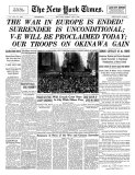 New York Times  May 8  1945: The War in Europe is Ended!