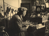 Old Antique Dealer with His Merchandise