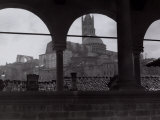 View of the Cathedral and the Bell Tower from an Open Gallery  Siena