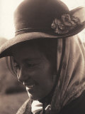 Close-up of Young Woman in Traditional Costume