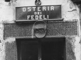 Sign for a Osteria