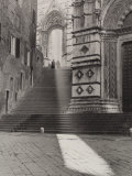 View of the Flight of Steps That Takes to the Piazza San Giovanni  Siena