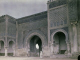 The Bab El-Mansour Gate in Meknes  Morocco