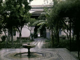 Garden Inside the Royal Palace in Marrakesh  Morocco