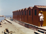 Red Bathing-Huts