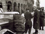 Bologna under German Military Occupation  Two German Soldiers and an Italian Driver