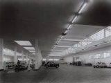 Inside of Fiat Factory in Bologna  Area for the Reception of Automobiles