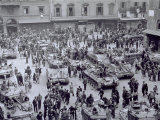 Polish Allied Troops Fraternize with Citizens During Liberation  Piazza Del Nettuno  Bologna  1945