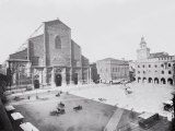 Piazza Maggiore and a View of the Church of San Petronio in Bologna