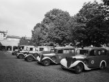 Red Cross Ambulances Parked Inside the Petronio Vecchio Depot  in Bologna  During World War II