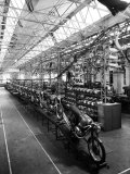 Some Newly Finished Mopeds in the Factory of the Moto-Benelli Firm in Pesaro