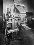 Printing Machine in the Editorial Office of the Daily Newspaper L'Avvenire D'Italia