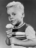 Boy Eating an Icecream